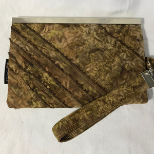Brown/Gold Batik - Wallet Deluxe