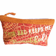 Cosmetic Makeup Bag, Makeup Case, Makeup Pouch, This Bag Keeps me Beautiful, Barbznet