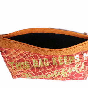 Cosmetic Makeup Bag, Makeup Case, Makeup Pouch, This Bag Keeps me Beautiful