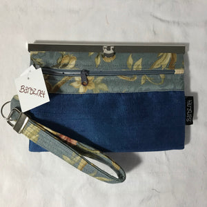 Home Dec Fabric - Blue Hand Dyed Silk- Wallet Deluxe