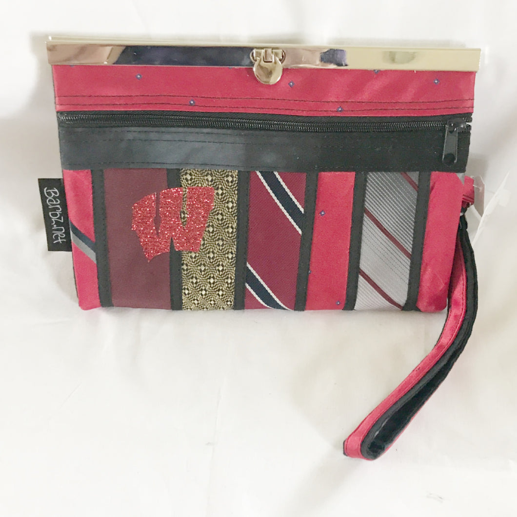 WI wallet, red and black, wristlet, Barbz.net