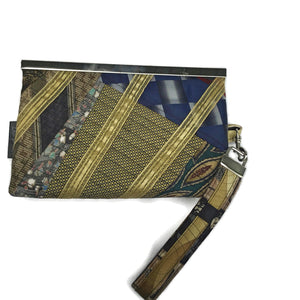 Gold and Black Ladies Wallet Wristlet