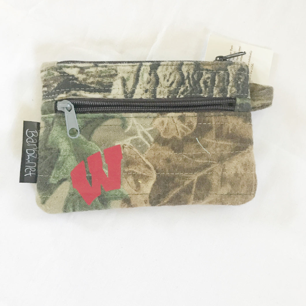 Wisconsin Camo Coin Purse, Men's Murse, Barbz.net