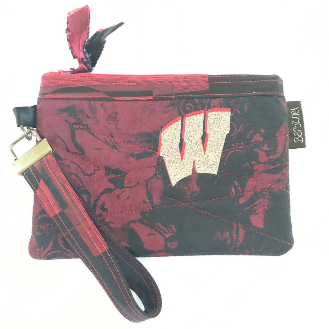 Motion W Small Red and Black Purse, Cell Phone Carrier, Small Zipper Pouch, Barbz.net