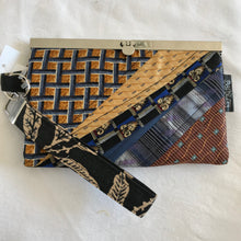 Up Cycled Neckties - Handmade fashion bag. clutch, wallet regular