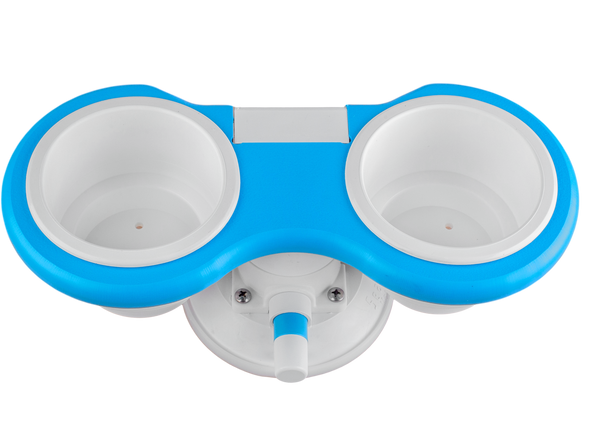 Blue Collection 2-Cup Holder - Horizontal Mount
