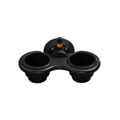 2-Cup Holder - Vertical Mount (Black): Floor Model