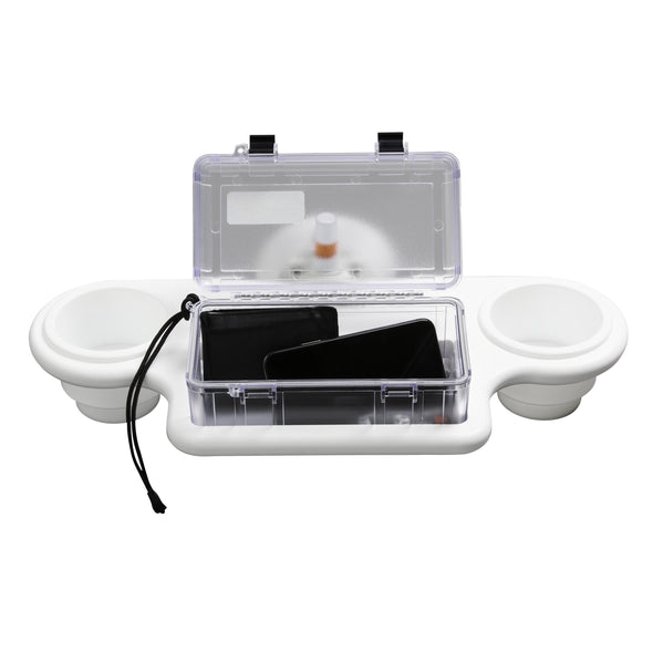 2-Cup Holder w/ Large Dry Box