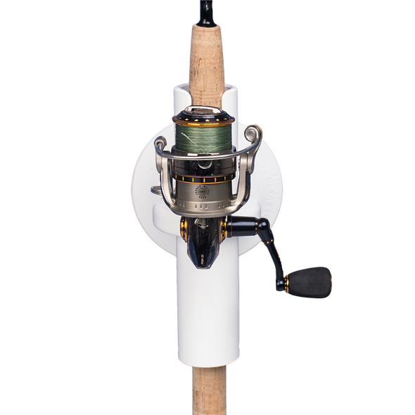 Front view of Pro Series Single Rod Holder with rod