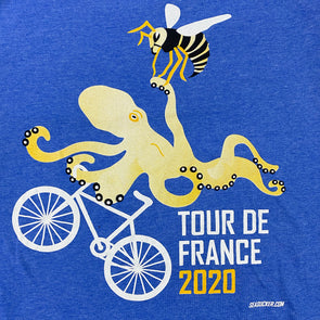 Tour de France 2020 SeaSucker Tee - Blue Unisex