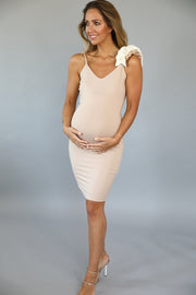 Maternity Melia Dress- Double frill