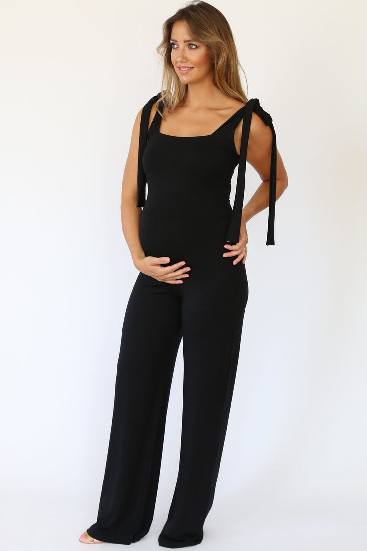 Maternity Poppy Jumpsuit