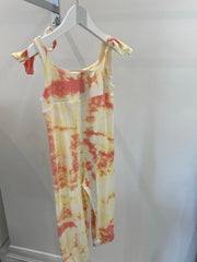 Mini Poppy Jumpsuit- Peach tie dye