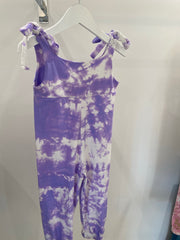 Mini Poppy Jumpsuit- Lilac tie dye