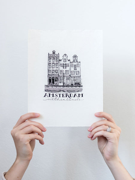 Amsterdam Original Hand Illustration