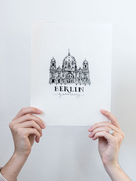 Berlin Hand Illustration