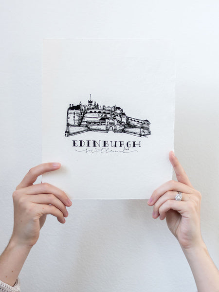 Edinburgh Hand Illustration