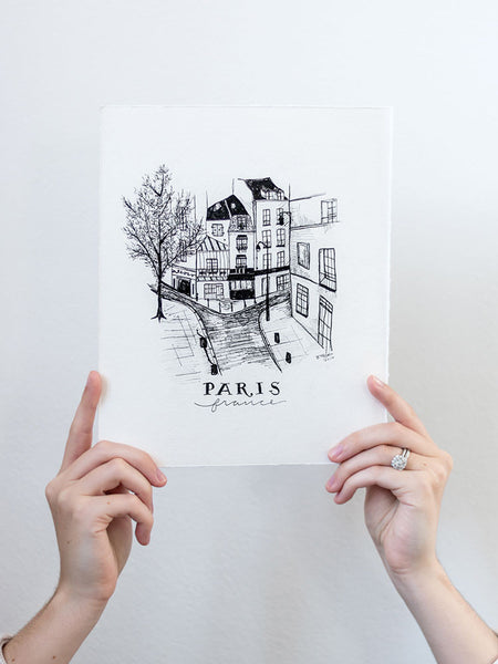Paris Hand Illustration