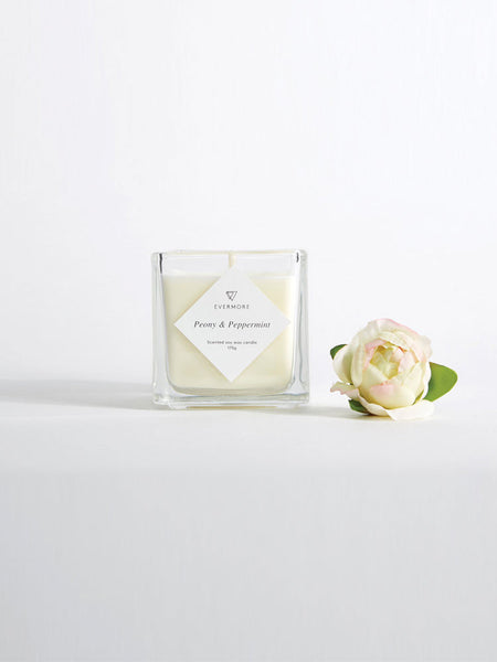 Peony Peppermint Soy Candle