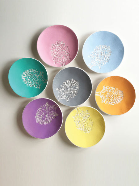 Lace Print Trinket Dishes