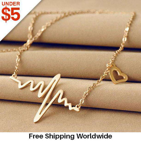 **64% Discount** Wave Heart ECG Necklace