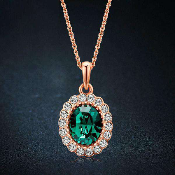 **39% Discount** Gold Plated Green Necklace