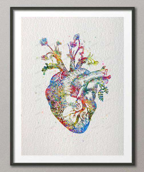 **27% Discount** Human Heart Canvas Painting