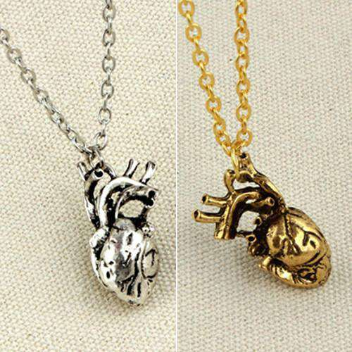 **46% Discount** Anatomical Heart Pendant Necklace