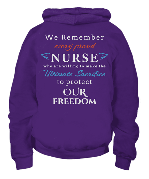 We Remember Every Proud Nurse Hoodie