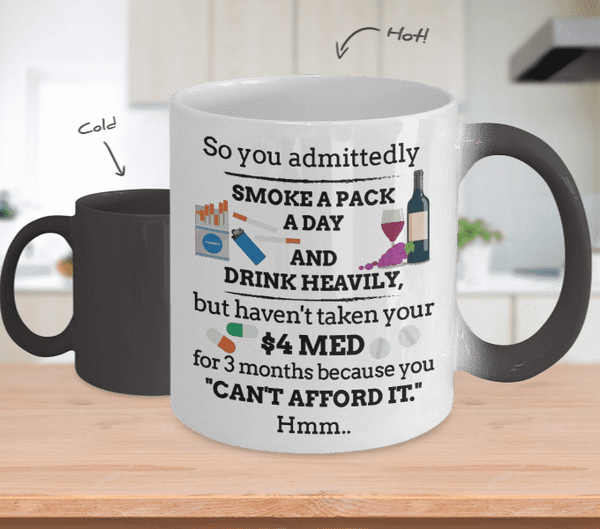 **Colour Changing** Can't Afford It Mug