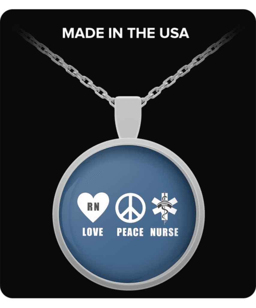 RN LOVE PEACE NECKLACE - FREE SHIPPING!