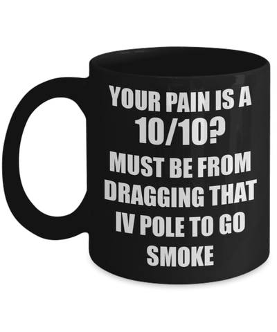 "<b class=""blink_me"">**23% Discount**</b><br>Your Pain Is A 10/10 Mug"