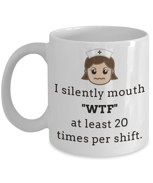 **23% Discount** I Silently Mouth WTF Mug