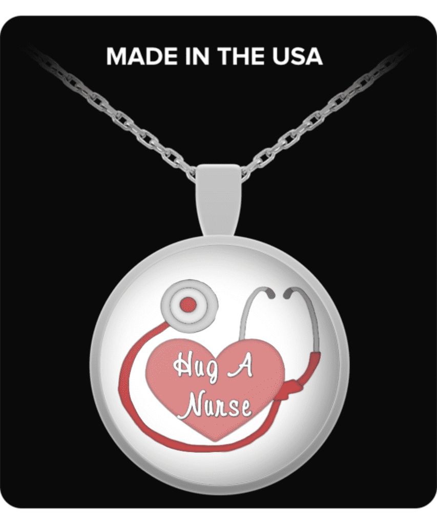 **8% Discount** Hug a Nurse Necklace