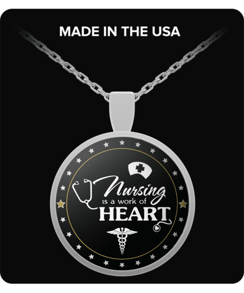 **15% Discount** Nursing Heart Necklace