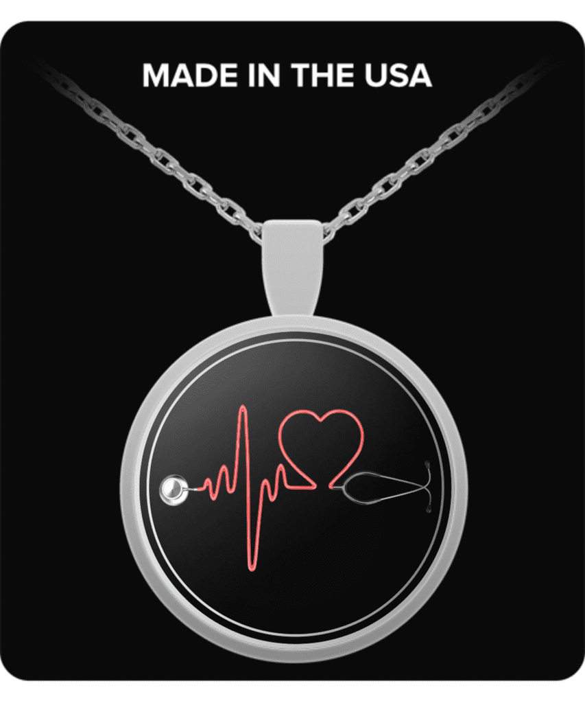 Heartbeat Stethoscope Necklace