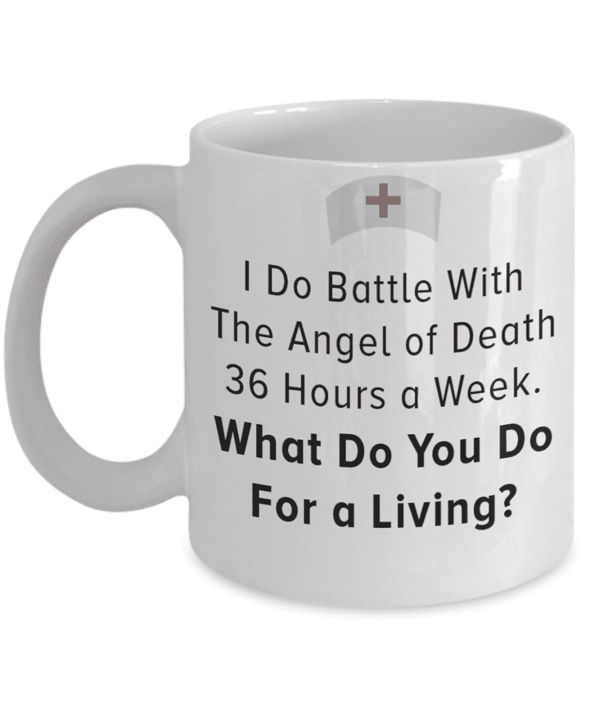 Battle With The Angel of Death Mug