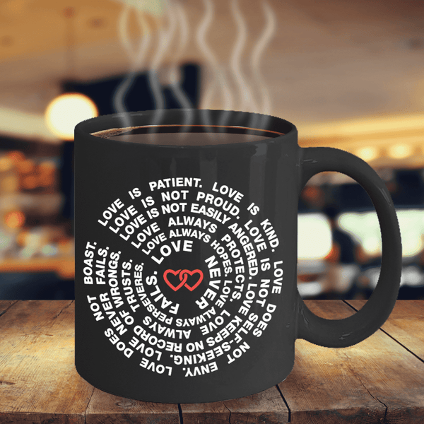 **37% Discount** Love Never Fails Coffee Mug