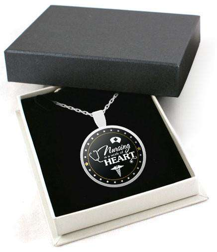 **19% Discount** Nursing Heart Necklace