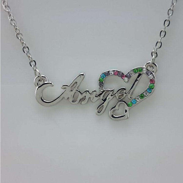 Heart Angel Crystal Necklace