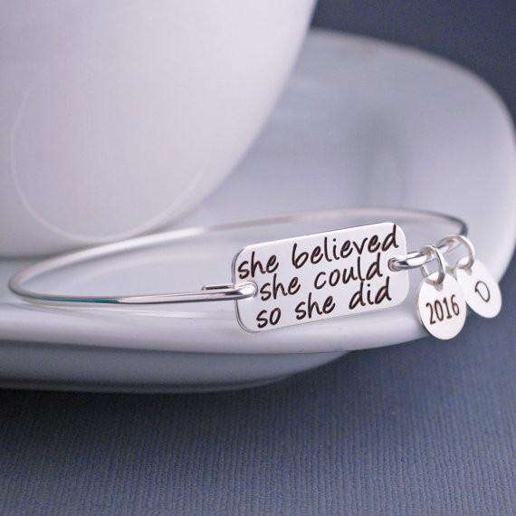 "<b class=""blink_me"">**41% Discount**</b><br> She Believed She Could So She Bracelet"