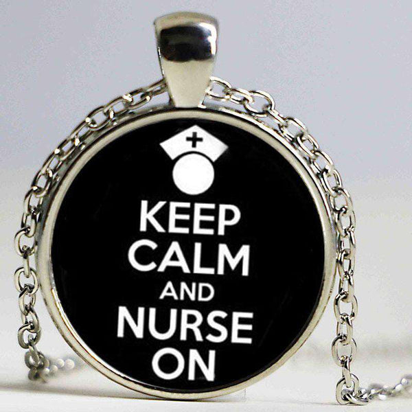 **48% Discount** Keep Calm And Nurse On Necklace