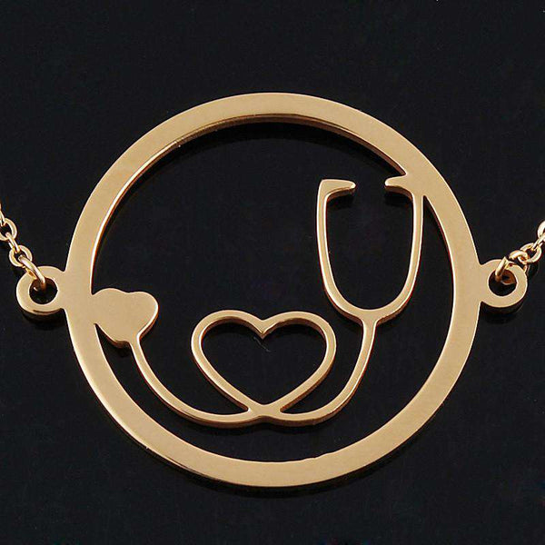 **29% Discount** Round Stethoscope Necklace