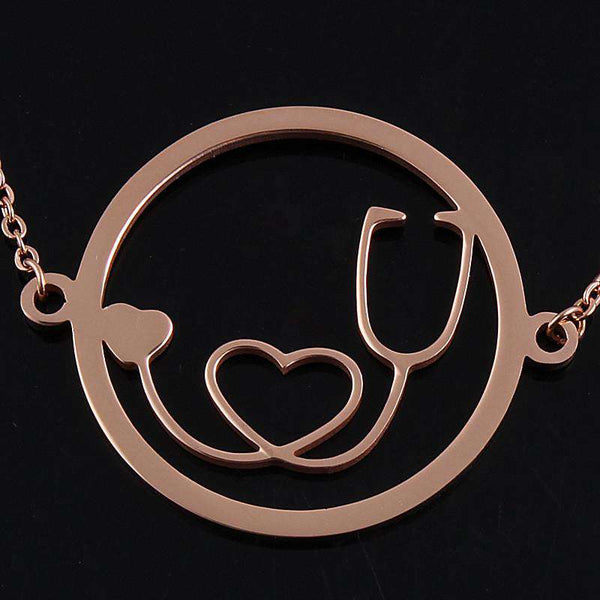 "<b class=""blink_me"">**29% Discount**</b><br>Round Stethoscope Necklace"