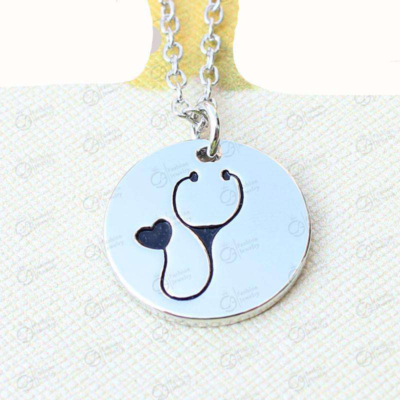 **38% Discount** Round Stethoscope Necklace