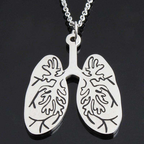 **28% Discount** Anatomical Lungs Necklace