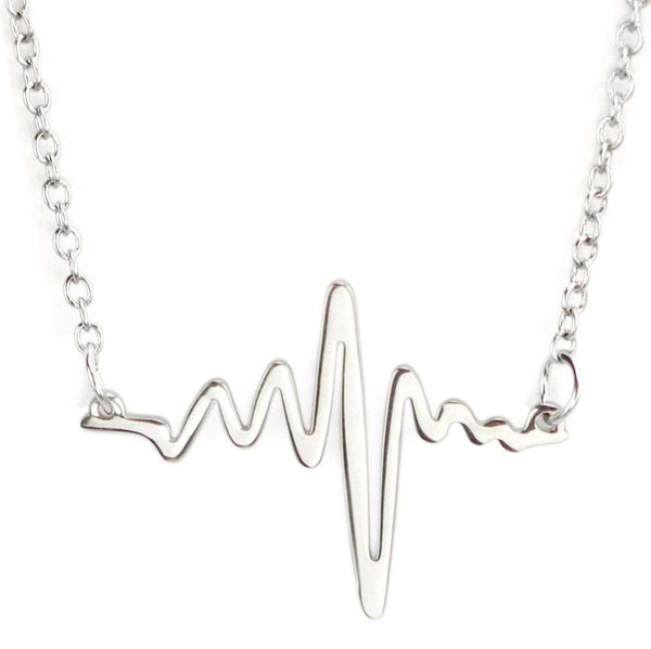 **33% Discount** Electrocardiogram Heartbeat Necklace