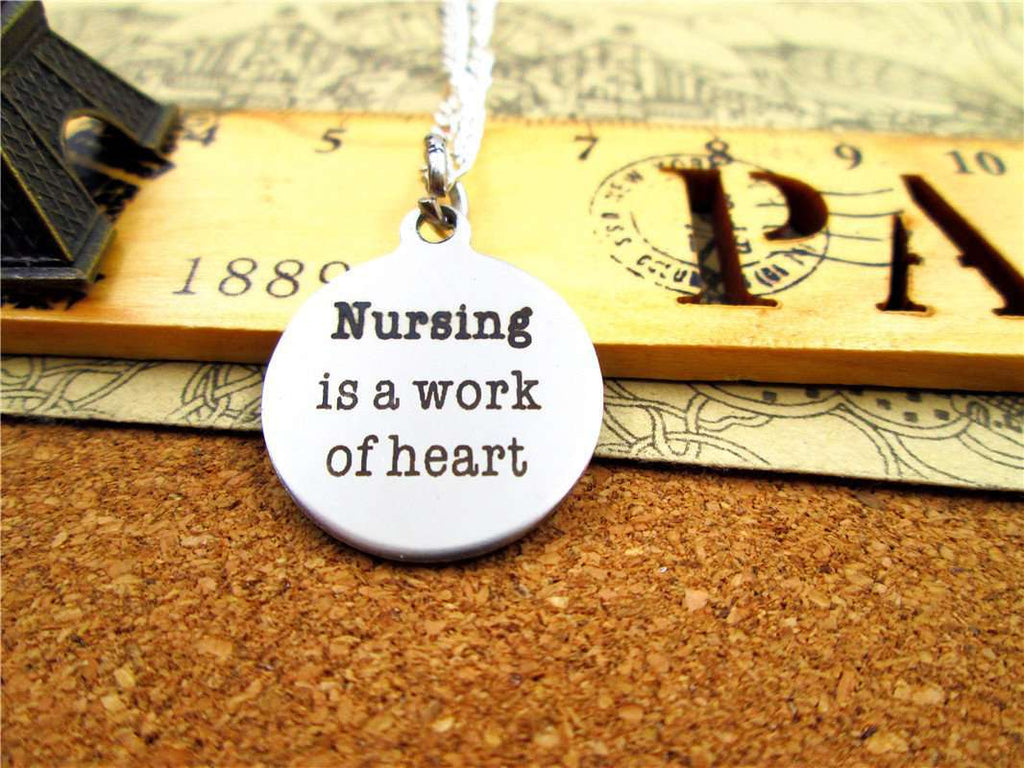 **31% Discount** Nursing Is A Work Of Heart Necklace