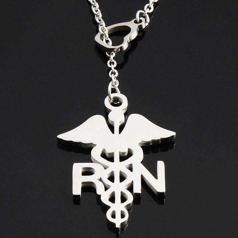 "<b class=""blink_me"">**23% Discount**</b><br>Registered Nurse Necklace"