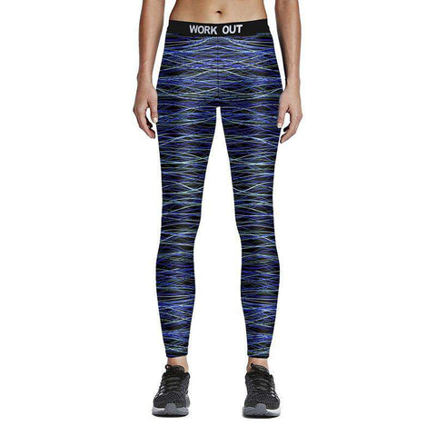 3D Silk Print Leggings